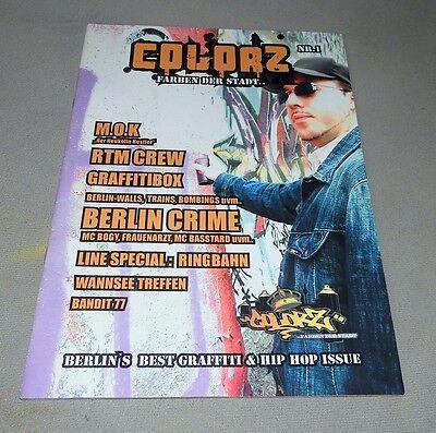 "Graffiti Magazine ""COLORZ"" Issue #01 2006 Berlin Trains Walls Magazin Montana"