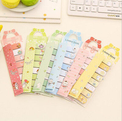Lovely Cartoon Sticker Post-it Bookmark Marker Memo Flag Index Tab Sticky Note