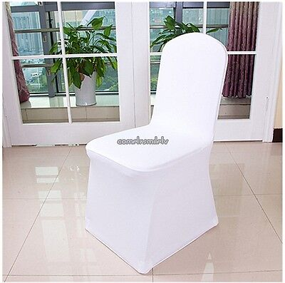 Folding Chair Seat Covers (100PCS Spandex Folding Chair Covers White -Wedding Banquet Seat Covers 100PC/Set )