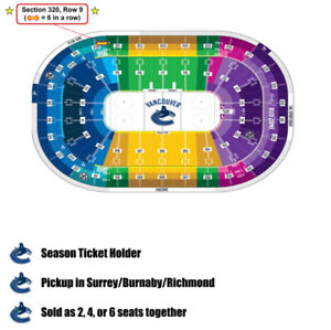 Canucks Tickets!  Many games below cost!  Up to 6 seats in a row