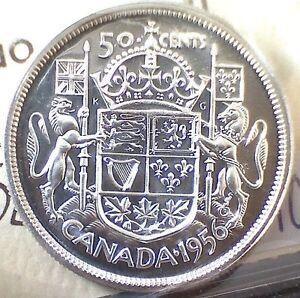 1956 Canadian Coin Set. ICCS Graded Proof Like PL-65 and PL-66 Edmonton Edmonton Area image 1