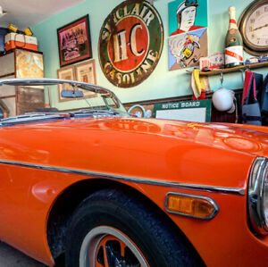 Summertime! 1973 MGB convertible. No rust, very good condition.