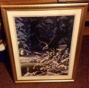 Large Framed Eagle Painting by Michelle Morra