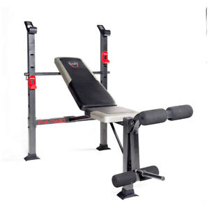 Exercise Bench - CAP Barbell Standard Bench Black/red