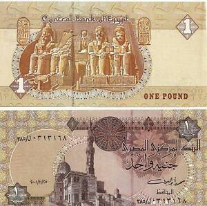Egypt One Pound Uncirculated 2007 Egyptian Note