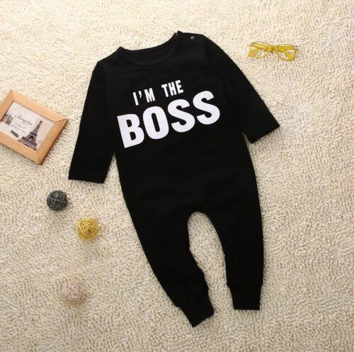 Newborn Infant Baby Boy Girl Kids Cotton Romper Jumpsuit Bod