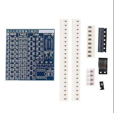 Smt Smd Component Welding Practice Blue Pcb Board Soldering Solder Suite Kit