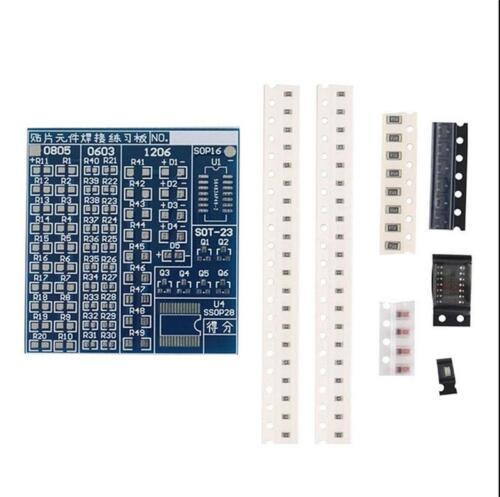 SMT SMD Component Welding Practice Blue PCB Board Soldering Solder Suite Kit SL