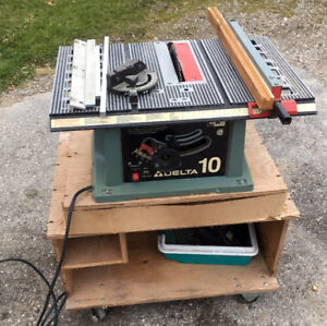 "Good Working DELTA 10"" Table Saw & Custom Cart SEE VIDEO"