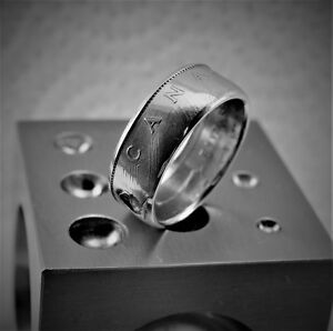 Canadian clad One Dollar coin ring, hand made