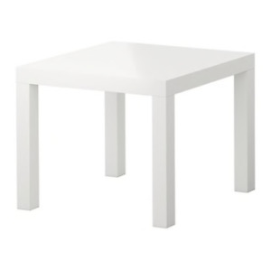 Ikea side table, white LACK