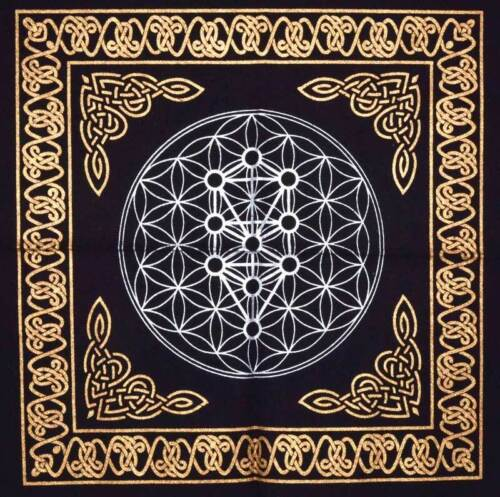"""Geometric Design Altar Cloth 18"""" x 18"""" Wiccan Witchcraft Supply Store"""