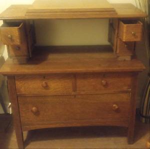 Old Oak Cabinet $135