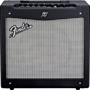 Ibanez RGD320z electric guitar and Fender Mustang II Amp