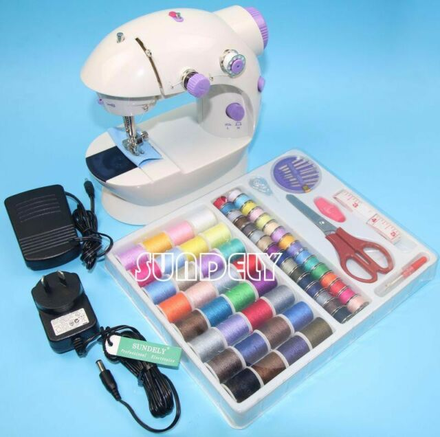 Electric/Mains Battery Powered Portable Handheld Mini Stitch Sewing Machine