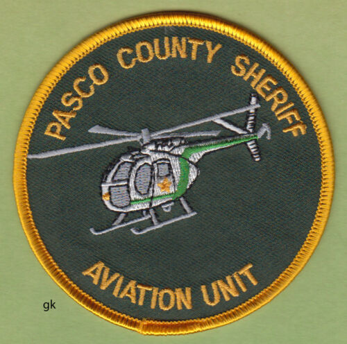 PASCO COUNTY SHERIFF  FLORIDA   AVIATION UNIT POLICE SHOULDER  PATCH helicopter
