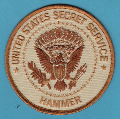 US SECRET SERVICE HAMMER MEDICAL RESPONSE TEAM POLICE   PATCH  Subdued Tan.