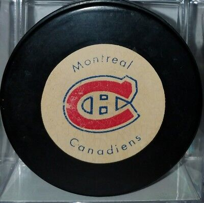 Vintage 1970's Montreal Canadiens Hockey game Puck Rawlings old Official CANADA