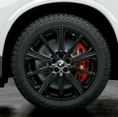 "BMW OEM G05 X5 G01 X3 G04 X4 749M M Double Spoke 22"" Wheel Tire Set Gloss Black"