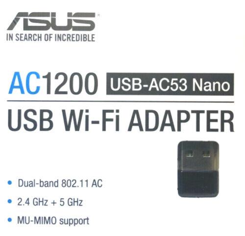 ASUS Dual-Band AC1200 USB Network Adapter - Black