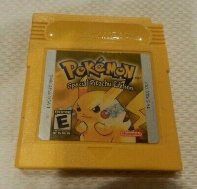 Pokemon Yellow Version Special Pikachu Nintendo Game Boy Game Color Cart Saves