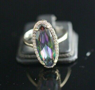Turkish Handmade Sterling Silver 925 mystic Ring 7 8 9