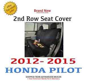 genuine honda pilot 2nd row seat cover 2012 2015 ebay. Black Bedroom Furniture Sets. Home Design Ideas