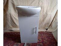 Nuie Sienna floor standing vanity unit with basin 400mm gloss white with waste fitted