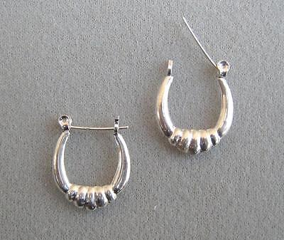 STERLING SILVER EARRINGS - (EP641-SS) - Scalloped Design. Wholesale price.
