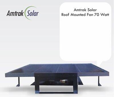 Amtrak Solar Most Potent Roof Top Solar Attic Fan, 70W