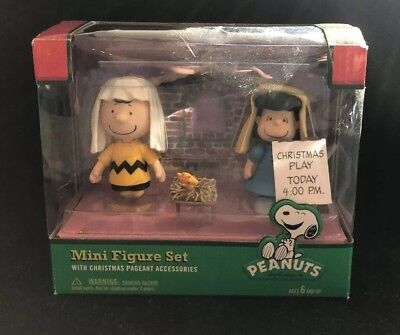 Snoopy Peanuts Mini Figure Set Christmas Pageant Nativity Scene Charlie Brown](Snoopy Nativity Set)