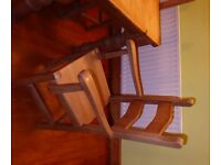 Pine Farmhouse Dining Table and Chairs