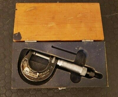 Starrett 0in To 1in 0-1 .0001 Micrometer No. 436-1in W Wooden Case