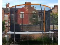 12ft TRAMPOLINE with enclosure and ladder