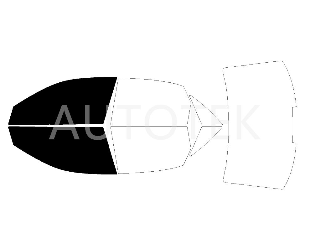 PreCut Film Front Two Door Windows Any Tint Shade % for Audi A4 Sedan 2002-2008
