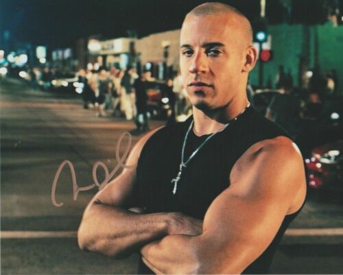 Vin Diesel Autographed 8 x 10 Glossy Photo Reproduction