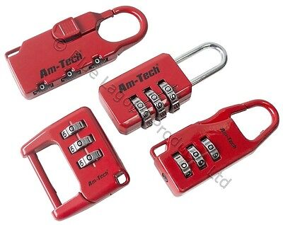 4 x High Quality Combination Padlock Locks Suitcase Locker Luggage Baggage NEW