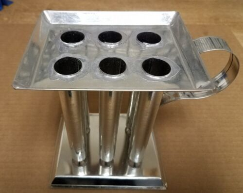 6 TUBE TAPER Metal Candle Mold (6 inch Tapers)