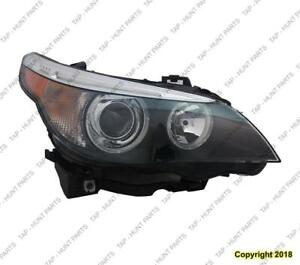 Head Light Passenger Side HID Without Auto Adjust High Quality BMW 5-Series (E60) 2004-2007
