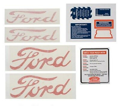 Decal Set Ford Naa Jubilee Tractor