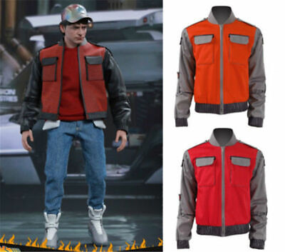 New Back To Future Marty Mcfly Jacket Cosplay Costume Coat Jacket Custom Made - Marty Mcfly Cosplay