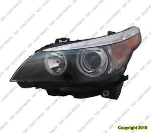 Head Light Driver Side HID Without Auto Adjust High Quality BMW 5-Series (E60) 2004-2007