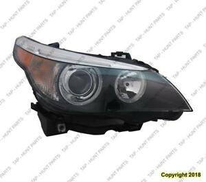 Head Lamp Passenger Side HID Without Auto Adjust High Quality BMW 5-Series (E60) 2004-2007
