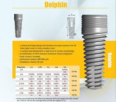 Dental Implant - 10 X Dolphin Implants Type Internal Hex System