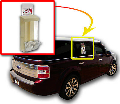 Outdoor Vehicle Brochure Flyer With Card Box Holder And Window Hook Car Truck