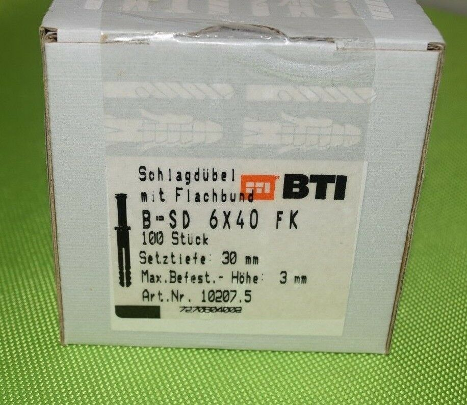 BTI Schlagdübel mit Senkkopfnagel B-SD 6 x 40mm (VE= 100 Stück) (55A)