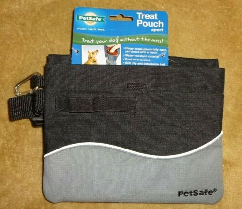 PetSafe Treat Pouch Sport, Dog Training Pouch, Black & Gray NWT