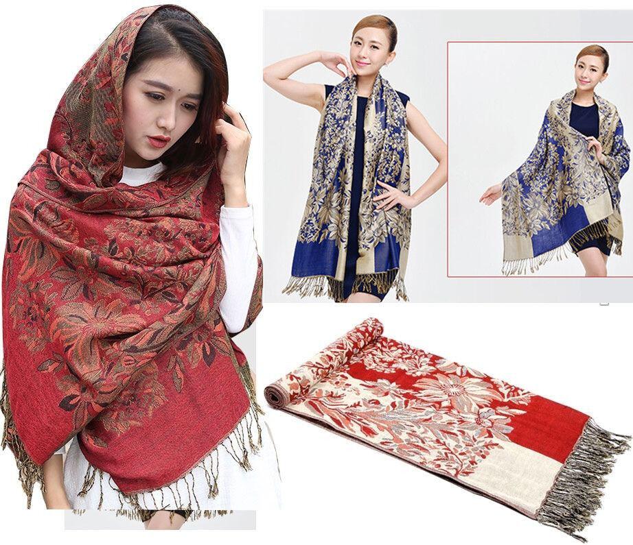 New Women/'s Fashion 100/% Cashmere Pashmina Soft Warmer Wrap Shawl Scarf Brown