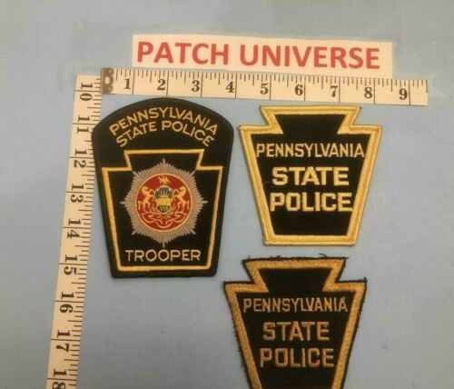 LOT OF 3  DIFF PENNSYLVANIA STATE POLICE  SHOULDER PATCHES  B073