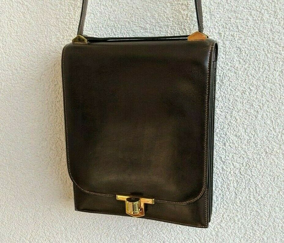 Vintage hermes, chantilly bag, leather, sac hermès; 19cm